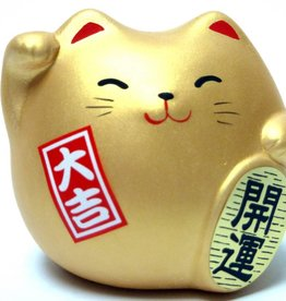 Maneki Neko (lucky cat) gold, small