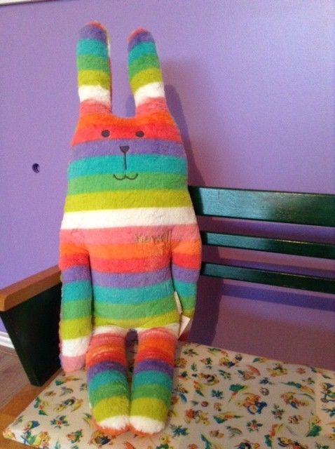 Craftholic® Konijn knuffel regenboog kleuren
