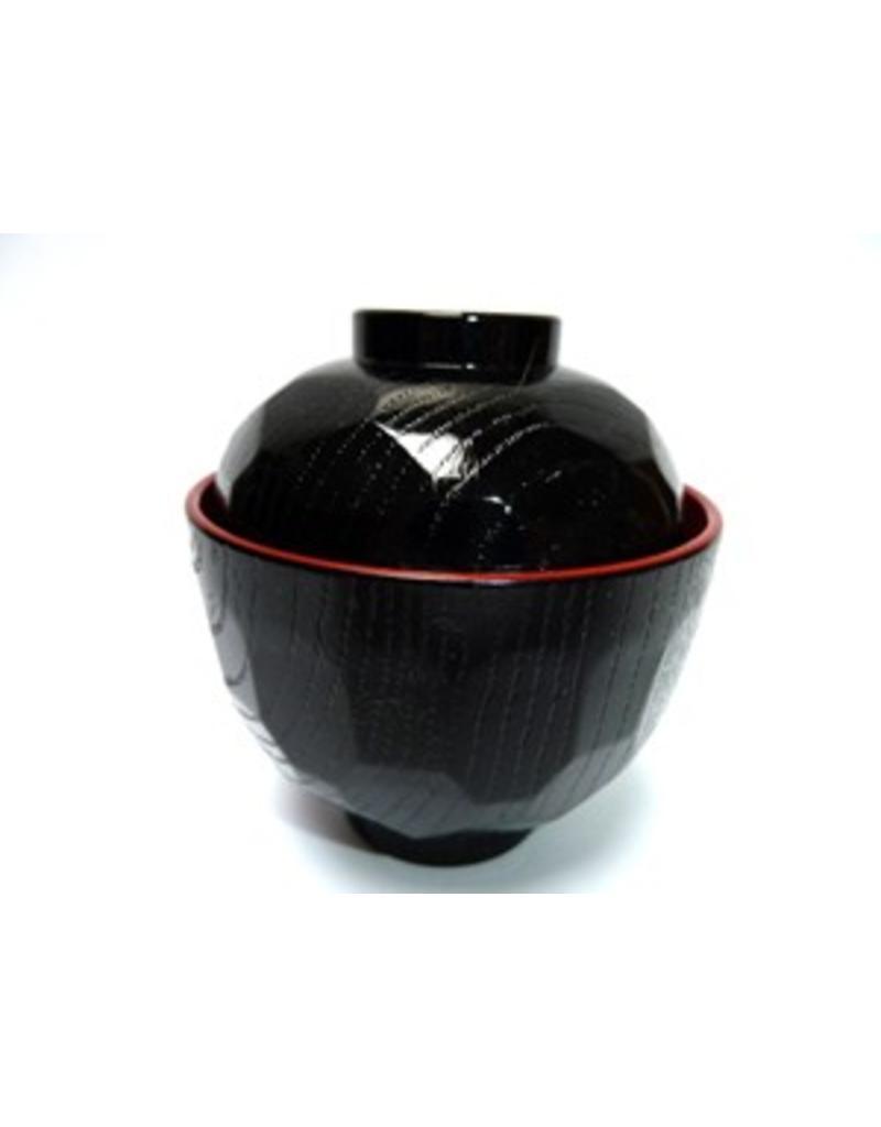 Miso soepkom zwart rood klein