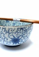 Tokyo Design Studio Japanese bowl cornflower motif