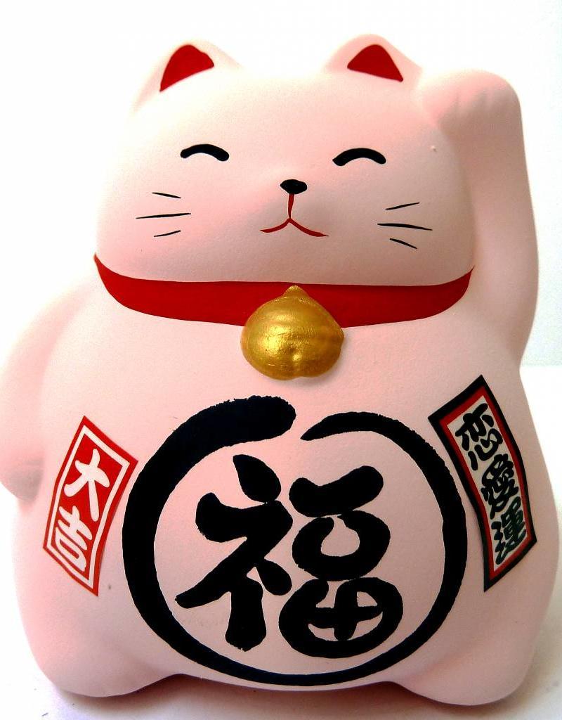 Maneki Neko spaarpot roze