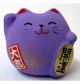 Maneki Neko paars, klein