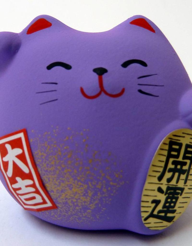 Maneki Neko purple, small