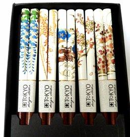 Tokyo Design Studio Chopsticks white with Japanese flowers