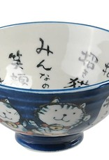 Tokyo Design Studio Blue bowl with cats