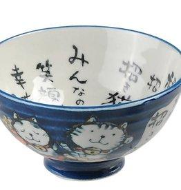 Tokyo Design Studio Kom blauw met katje