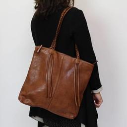 Bear Design Shopper Cognac 'Franjes' CL35012
