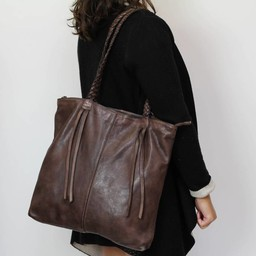 Bear Design Shopper Donkerbruin 'Franjes' CL35012