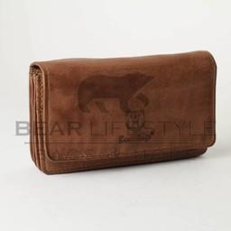 Bear Design Damesportemonnee Overslag GR9863 Cognac