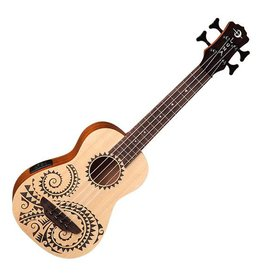 Luna Luna Tattoo Bass Ukulele