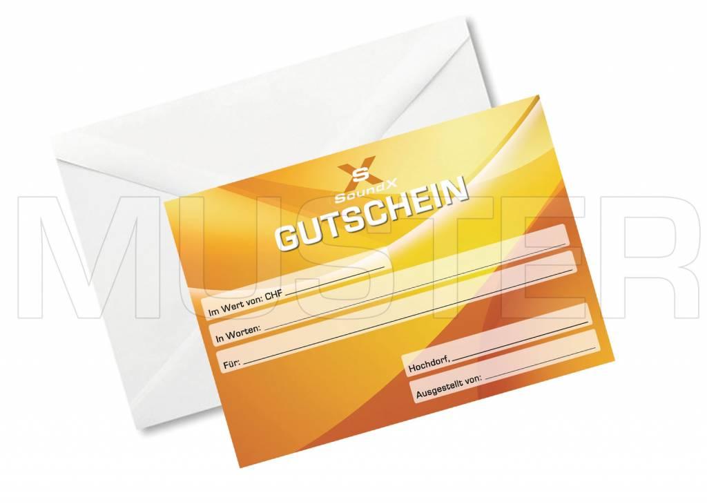 SoundX Gutschein