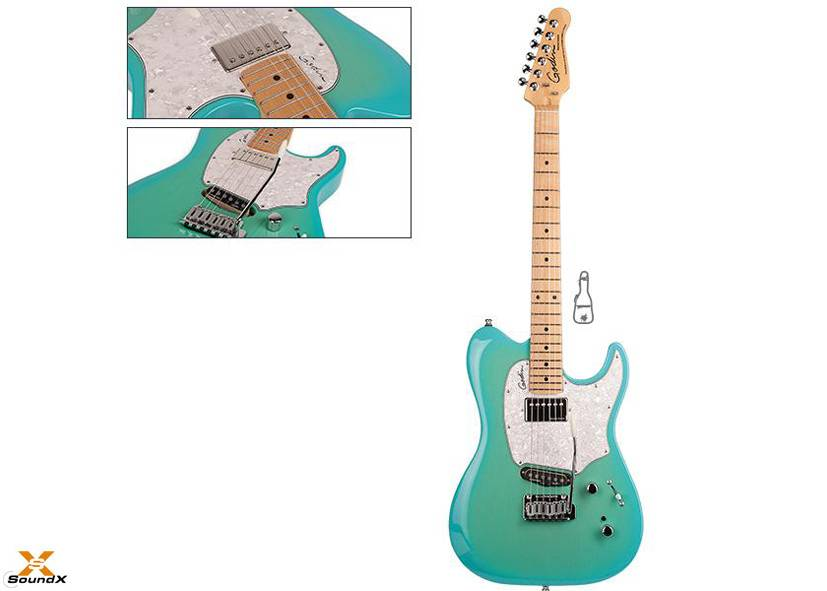 Godin Session Custom 59 Limited Coral Blue HG