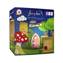 The Irish Fairy Door Company Roze feeëndeurtje met puntvorm