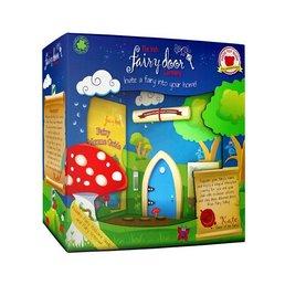 The Irish Fairy Door Company Blauw feeëndeurtje met puntvorm