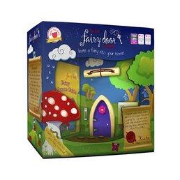 The Irish Fairy Door Company Paars feeëndeurtje met puntvorm