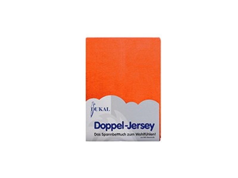 Fixleintuch Doppel-Jersey orange