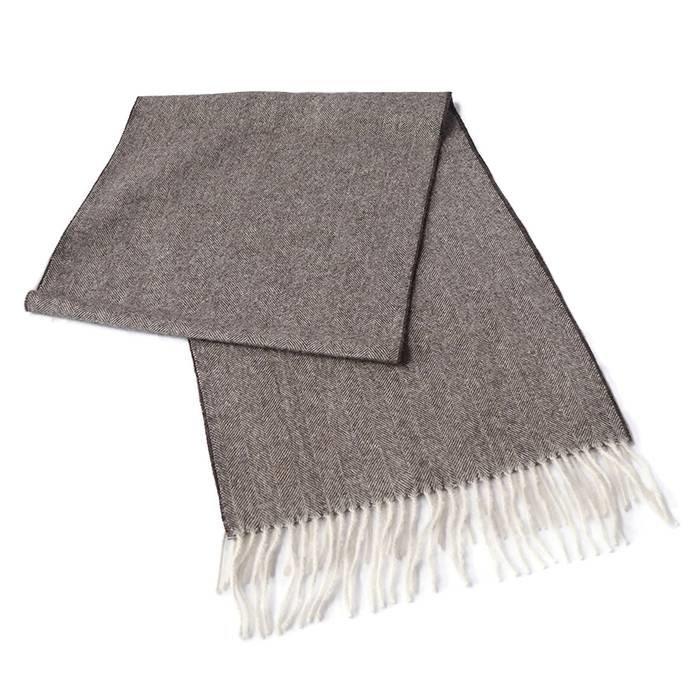 'Fishbone' - Alpaca Scarf - 100% Alpaca Wool
