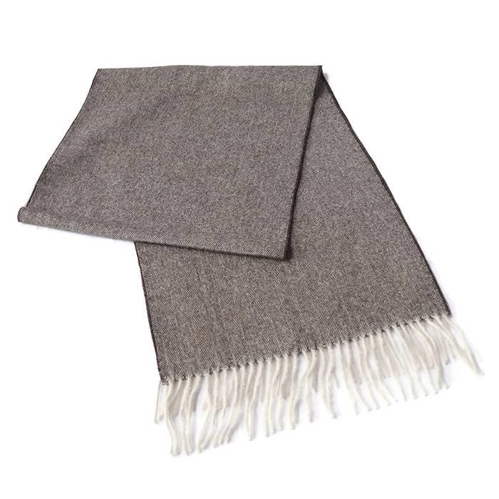 'Fishbone' - Alpaca Sjaal - 100% Alpacawol - Rots