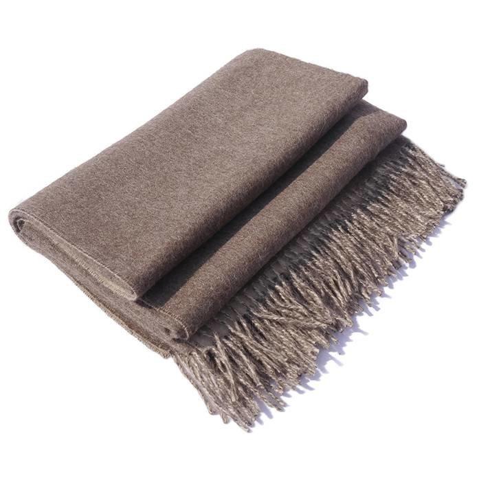 'Double Face' - Throw - 100% Alpaca Wool