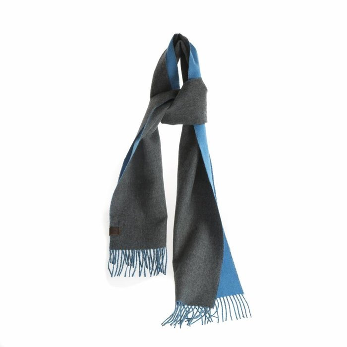 'Double Face' - Scarf - Blue/Grey