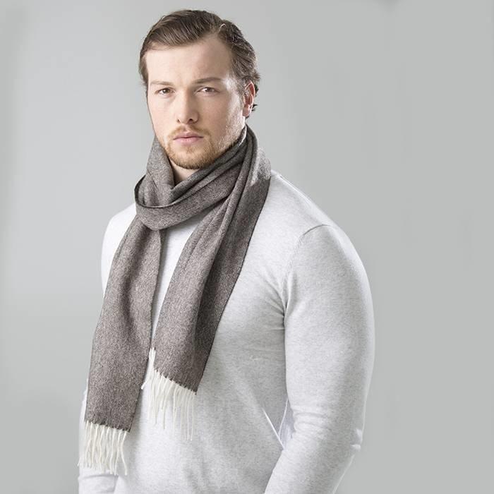 'Fishbone' - Alpaca sjaal - Rots