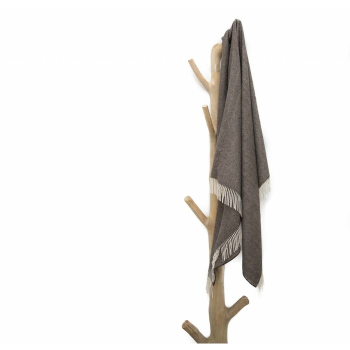 'Fishbone' - Throw - Brown/Grey