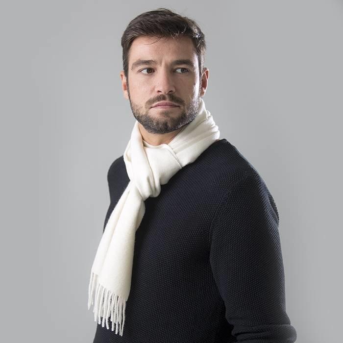 'Royale' - Premium Sjaal - Ivoor