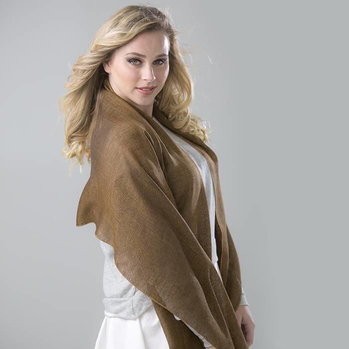 'Super Seda' - Stole - Creme/Beige - 70% Baby Alpaca Wool - 30% Silk