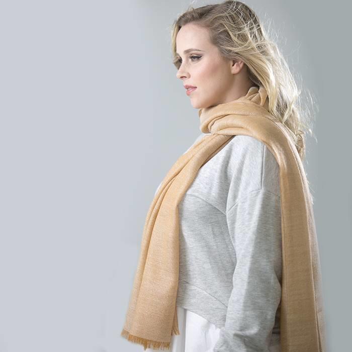 'Super Seda' - Stole - 70% Baby Alpaca Wool - 30% Silk