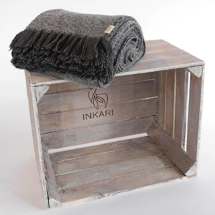 'Leather Stripes' - Dark Grey - Alpaca wool - Hypoallergenic
