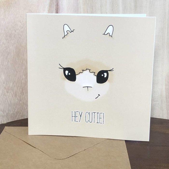 Hey Cutie! - Liefdeskaart - Vriendschapskaart