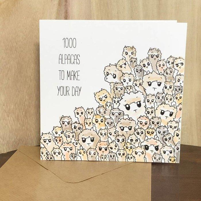 1000 Alpaca's - Verjaardagskaart