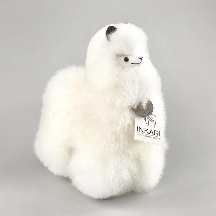 Alpaca Toy - Soft & Fluffy - Medium - Handmade in Peru - Hypoallergenic - Ivory White