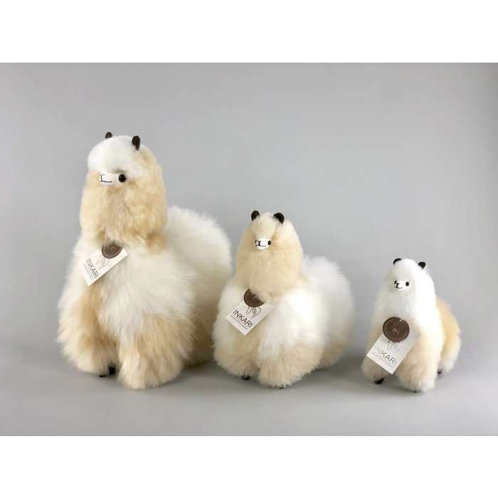 'Big Alpaca' - Fluffy Toy' - Handmade - Hypoallergenic - Ivory/Beige