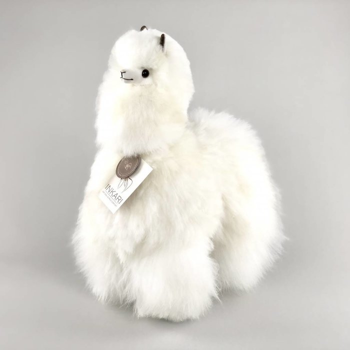 Big Alpaca - Fluffy Toy - Ivory