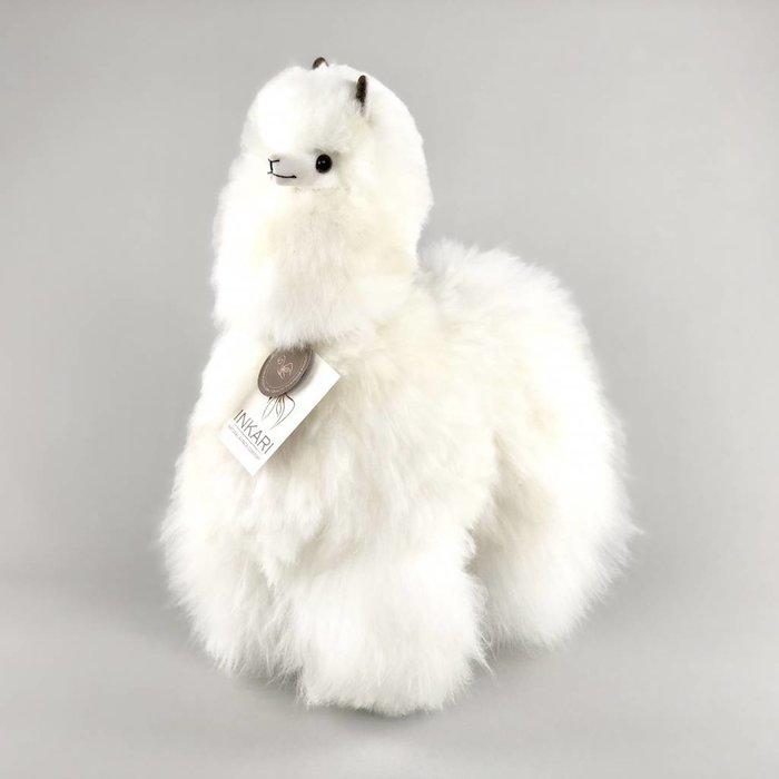 'Grote Alpaca' - Zachte Knuffel - Handgemaakt - Allergie-vrij - Ivoor
