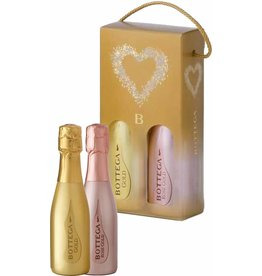 Bottega Giftbox Bottega Gold Prosecco picoolo en Rosé Piccolo