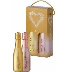 Giftbox Bottega Gold Prosecco picoolo en Rosé Piccolo