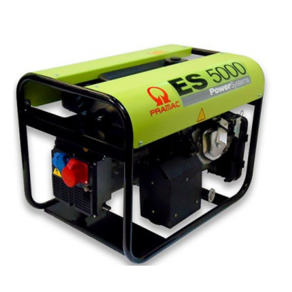 Pramac ES5000 230V/400V Groupe Electrogène 7.2 kVA Essence 230V ES8000 avec AVR PRAMAC