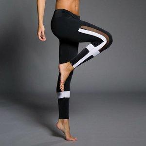 Onzie Yoga Wear Power Legging - Black / White / Mesh