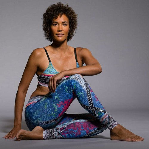 Onzie Yoga Wear Graphic Legging - Indo mix