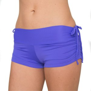 LaLa Land Yoga Wear Baby Cake Shorts - Periwinkle