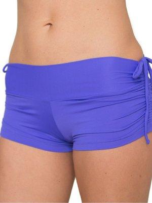 LaLa Land Yoga Wear Baby Cake Shorts - Periwinkle (S/M)