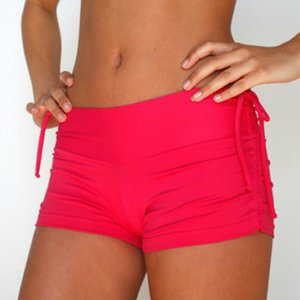 LaLa Land Yoga Wear Baby Cake Shorts - Raspberry