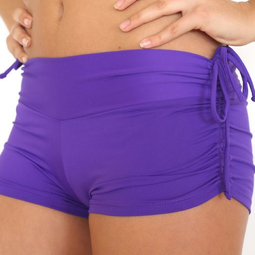 LaLa Land Yoga Wear Baby Cake Shorts - Violet