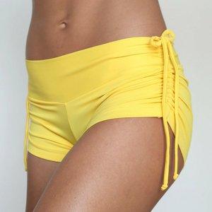 LaLa Land Yoga Wear Baby Cake Shorts - Yellow (M)