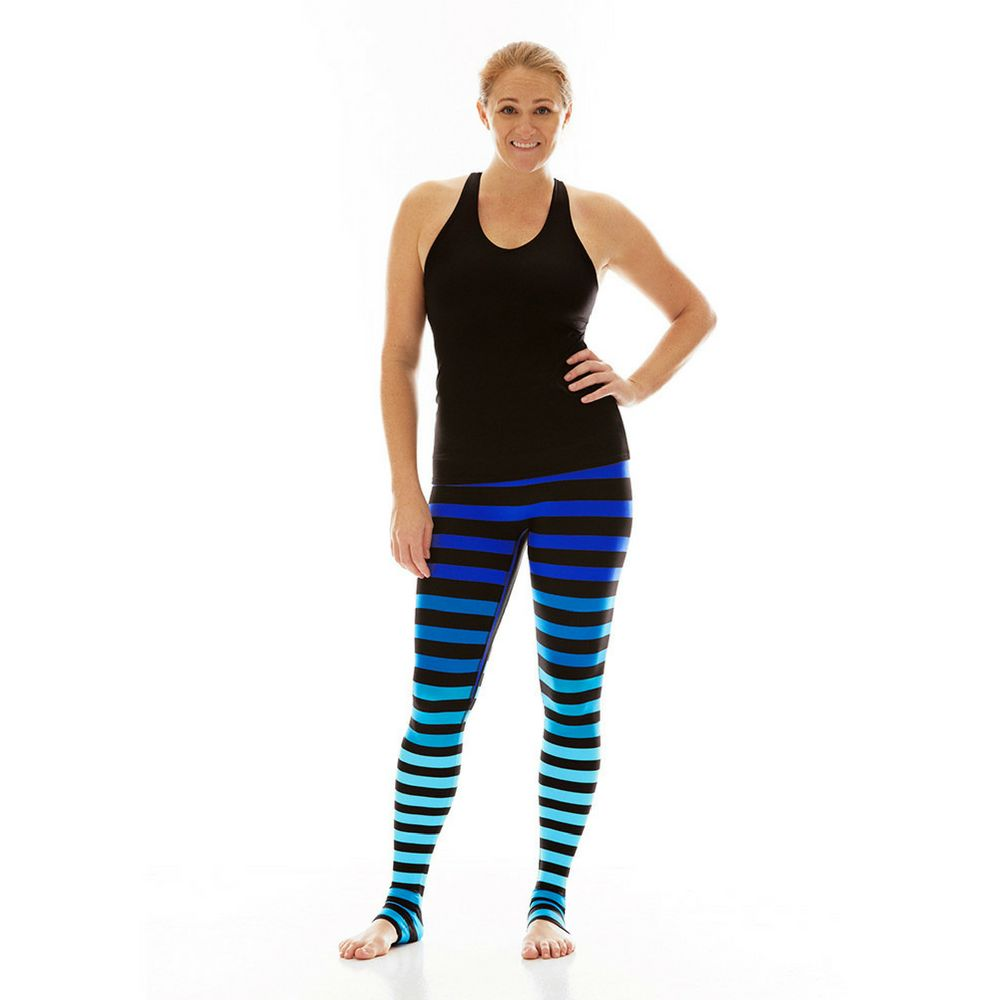 K Deer Alexis Stripe Leggings Yogahabits
