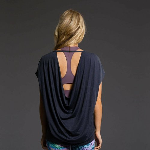 Onzie Yoga Wear Drop Back Top - Midnight