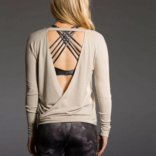 Onzie Yoga Wear Drapey V Back - Taupe