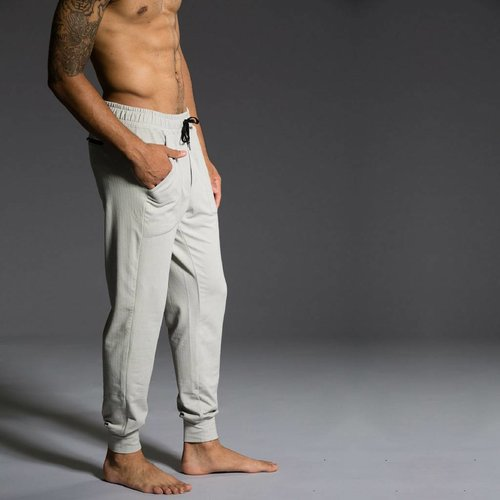 Onzie Yoga Wear Classic Jogger - Khaki Herringbone (L)